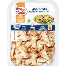 Emincés de filets de poulet rôtis