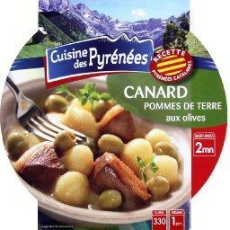 Canard-pommes de terre aux olives