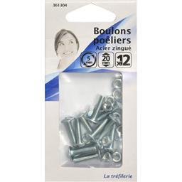 Boulon poêliers acier zingué 5mm 20mm