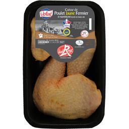 Cuisse de poulet jaune fermier d'Auvergne Label Rouge