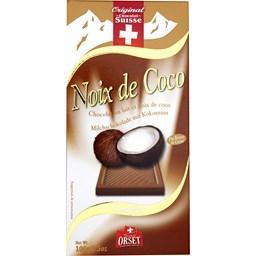 Chocolat au lait et noix de coco