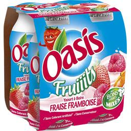 Yaourt à boire aux fruits fraise/framboise