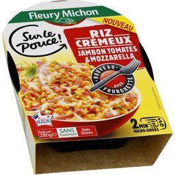Sur Le Pouce - Riz crémeux jambon tomates & mozzarella