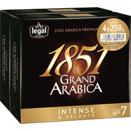 Legal Café moulu 1851 Grand Arabica les 4 paquets de 250 g