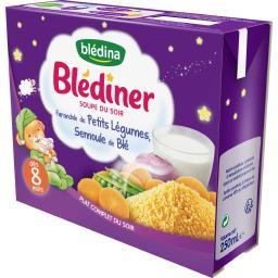 Blédîner - Soupe du soir farandole légumes semoule b...