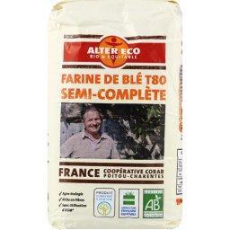 Farine de blé semi-complète BIO T80 de France