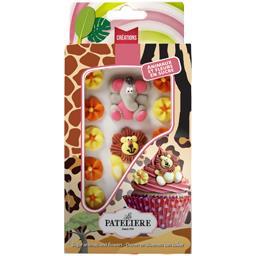 La Patelière Créations - Animaux et fleurs en sucre la boite de 19 g