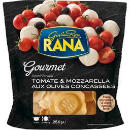 Gourmet - Grand ravioli tomate & mozzarella aux oliv...