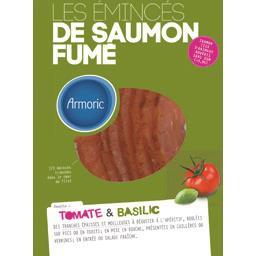 Emincés de saumon fumé tomate & basilic