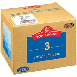Collants mousse - 20D - noir T2