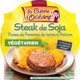 Steak de soja purée de pommes de terre & potiron
