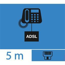 Filtre ADSL + câble RJ11 mâle/mâle