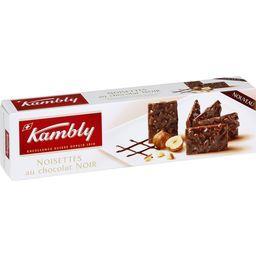Biscuits noisettes au chocolat noir
