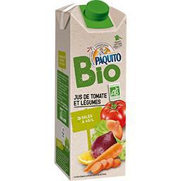 Bio Paquito Jus de tomate et de légumes salés à 3g/l BIO la bouteille de 75 cl