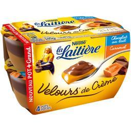 Nestlé La Laitière Velours de Crème - Crème dessert chocolat au lait/ca...