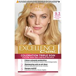 Excellence crème 9 (3), crème colorante permanente b...