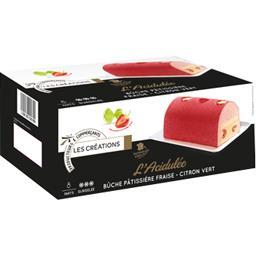 Les Créations L'Acidulée Bûche Pâtissière fraise citron vert 8 par... la boite de 500 g