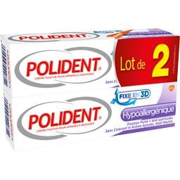 Polident Crème fixative hypoallergénique les 2 tubes de 40 g