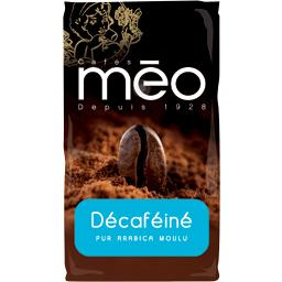 Café moulu décaféiné pur arabica