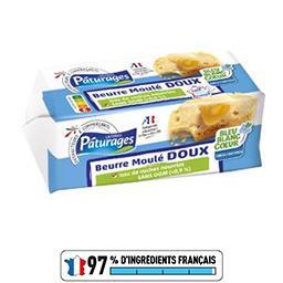 Pâturages Beurre moulé doux la plaquette de 250 g