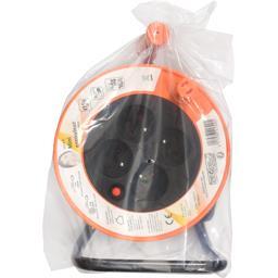 Mini enrouleur 3G1,0mm 4 prises 16A 15m, orange