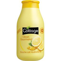 Douche lait hydratant citron gourmand, COTTAGE, flacon de 250ml