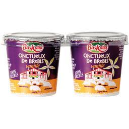 Baskalia Onctueux de brebis vanille les 2 pots de 110 g