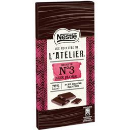Les Recettes de L'Atelier - Chocolat noir floral Rec...