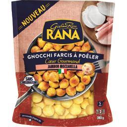 Gnocchi farcis à poêler cœur gourmand jambon mozzarella