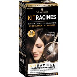 Kit Racines - Coloration permanente R6 châtain