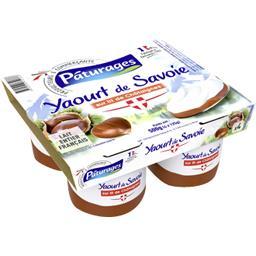 Yaourt de Savoie sur le lit de châtaignes