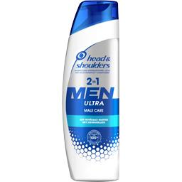 Men ultra male care 2en1 shampooing 255 ml