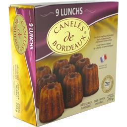Notre Sélection Canelés de Bordeaux la boite de 9 - 270 g