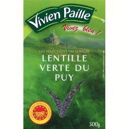 Lentilles vertes du Puy AOP