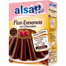 Flan fondant très chocolat
