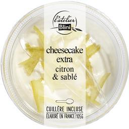 Blini L'Atelier - Cheesecake extra citron & sablé la barquette de 105 g