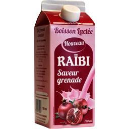 Raïbi Boisson lactée saveur grenade la brique de 750 ml