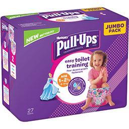 Huggies Couche culotte Pull-Ups fille, T 8-17 kg le paquet de 27