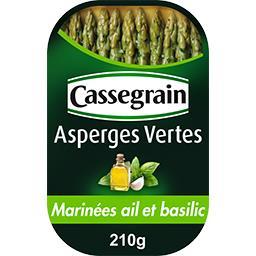Asperges vertes marinées à l'ail et au basilic