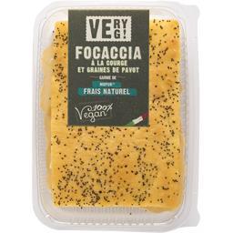 Sélectionné par votre magasin Focaccia à la courge et graines de pavot la focaccia de 130 g