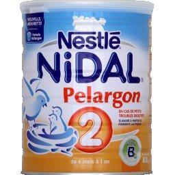 Nidal - Lait de suite Pelargon 2, de 6 mois à 1 an,NIDAL,la boite de 800g