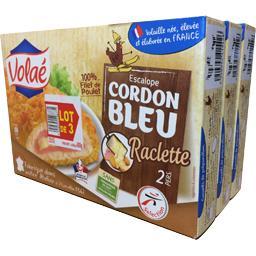 Volaé Escalope Cordon Bleu raclette le lot de 3 boites de 200 g