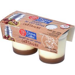 Yaourt au lait entier châtaigne