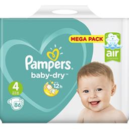 Couches baby-dry taille 4 (maxi) 8-16 kg,PAMPERS,Le méga pack de 86