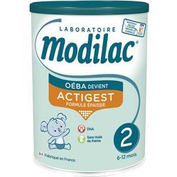 Lait de suite en poudre Actigest 2, de 6-12 mois