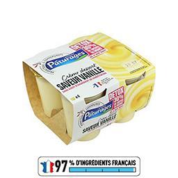 Pâturages Crème dessert saveur vanille Detox réduit en sucres les 4 pots de 115 g