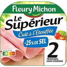 Fleury Michon Le Supérieur - Jambon sans couenne cuit à l'étouffée...