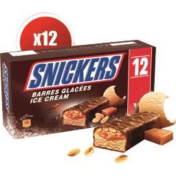 Barres glacées cacahuètes caramel chocolat au lait