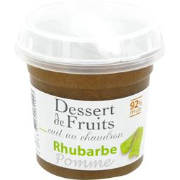 Dessert de fruits rhubarbe pomme 92% de fruits
