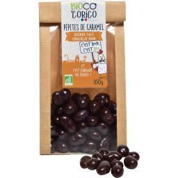 Pépites de caramel beurre salé chocolat noir BIO